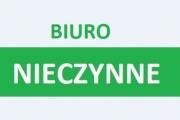 """Uwaga! 14 sierpnia 2020 – Biuro LGD """"Kraina wokół Lublina"""" nieczynne."""